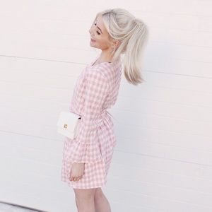 Urban Outfitters Checkered Pink Dress